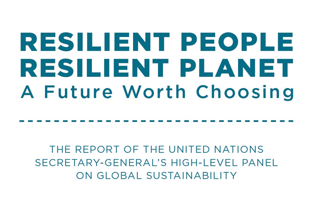 UN High-Level Panel on Global Sustainability Report