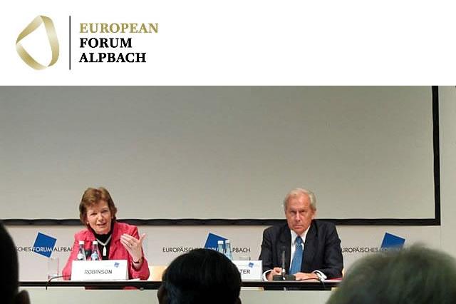 Mary Robinson delivers keynote address at Alpbach Political Symposium 2011
