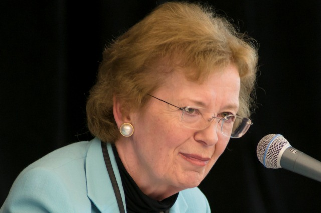 Mary Robinson discusses private sector role in global development agenda
