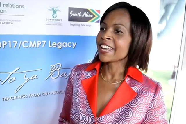 COP18: Maite Nkoana-Mashabane, South Africa's Minister of International Relations and Cooperation