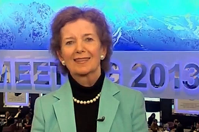 Mary Robinson live from Davos