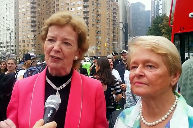 New York Climate March: Mary Robinson and Gro Harlem Brundtland