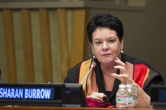 Sharan Burrow speaks at the Bridge to the Future campaign