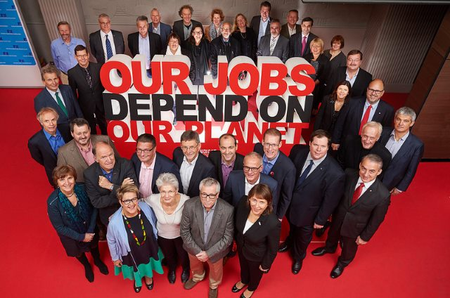 Trade unions urged to be the first on the barricades in the global defence against climate change