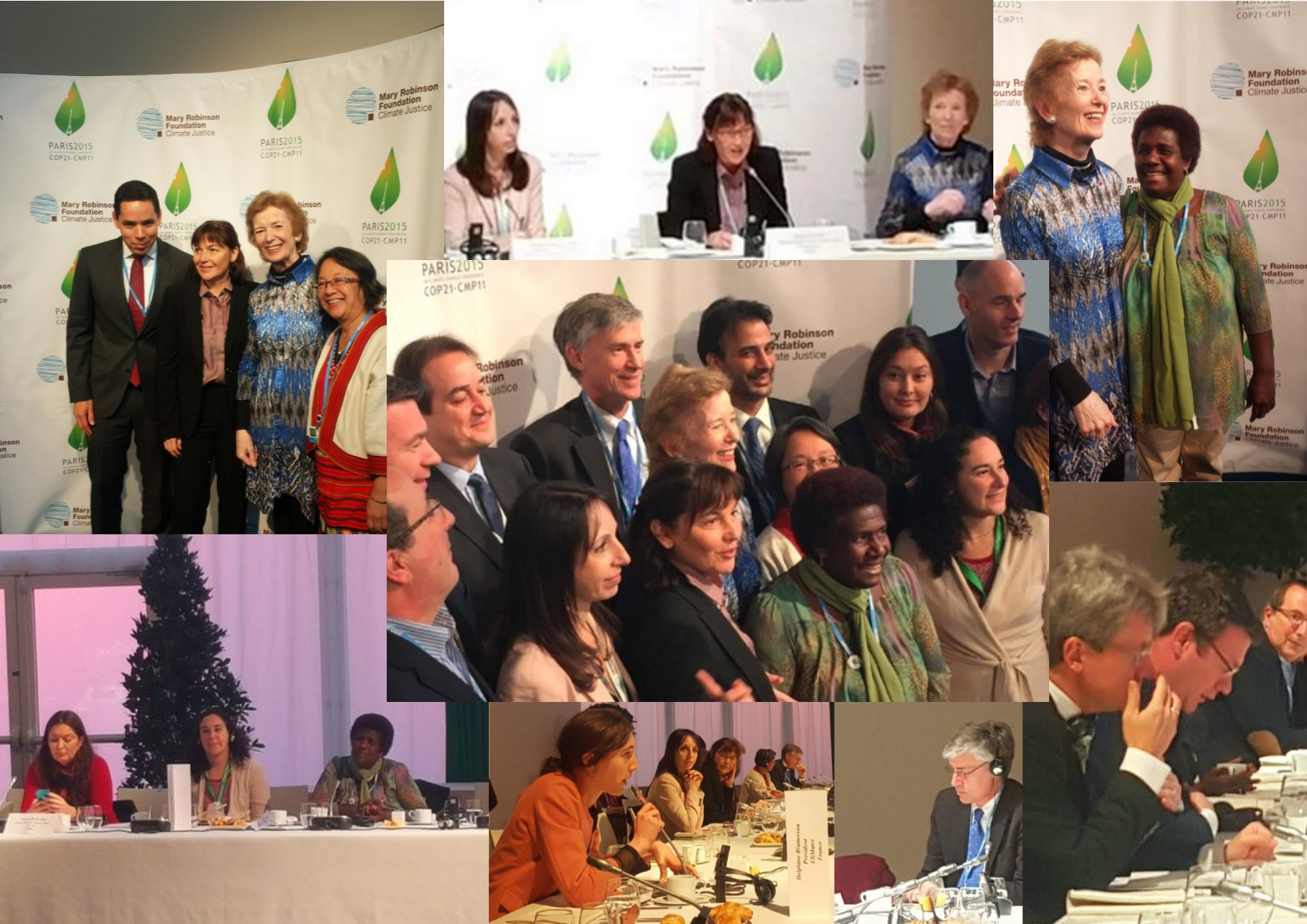 Celebrating Human Rights Day at COP21 at a high-level breakfast meeting on the occasion of human rights, co-hosted by the COP21 Presidency and the Foundation. 10 December 2015