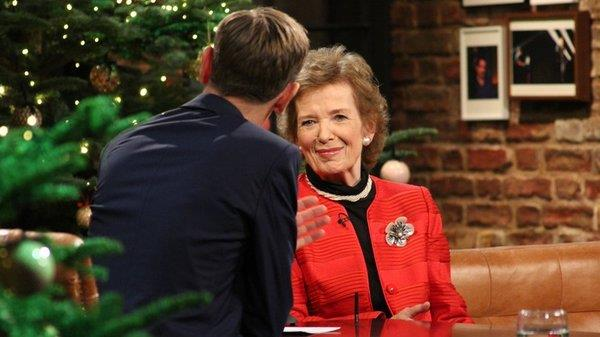 Mary Robinson talking to Ryan Tubridy on the Late Late Show, 18 December 2015