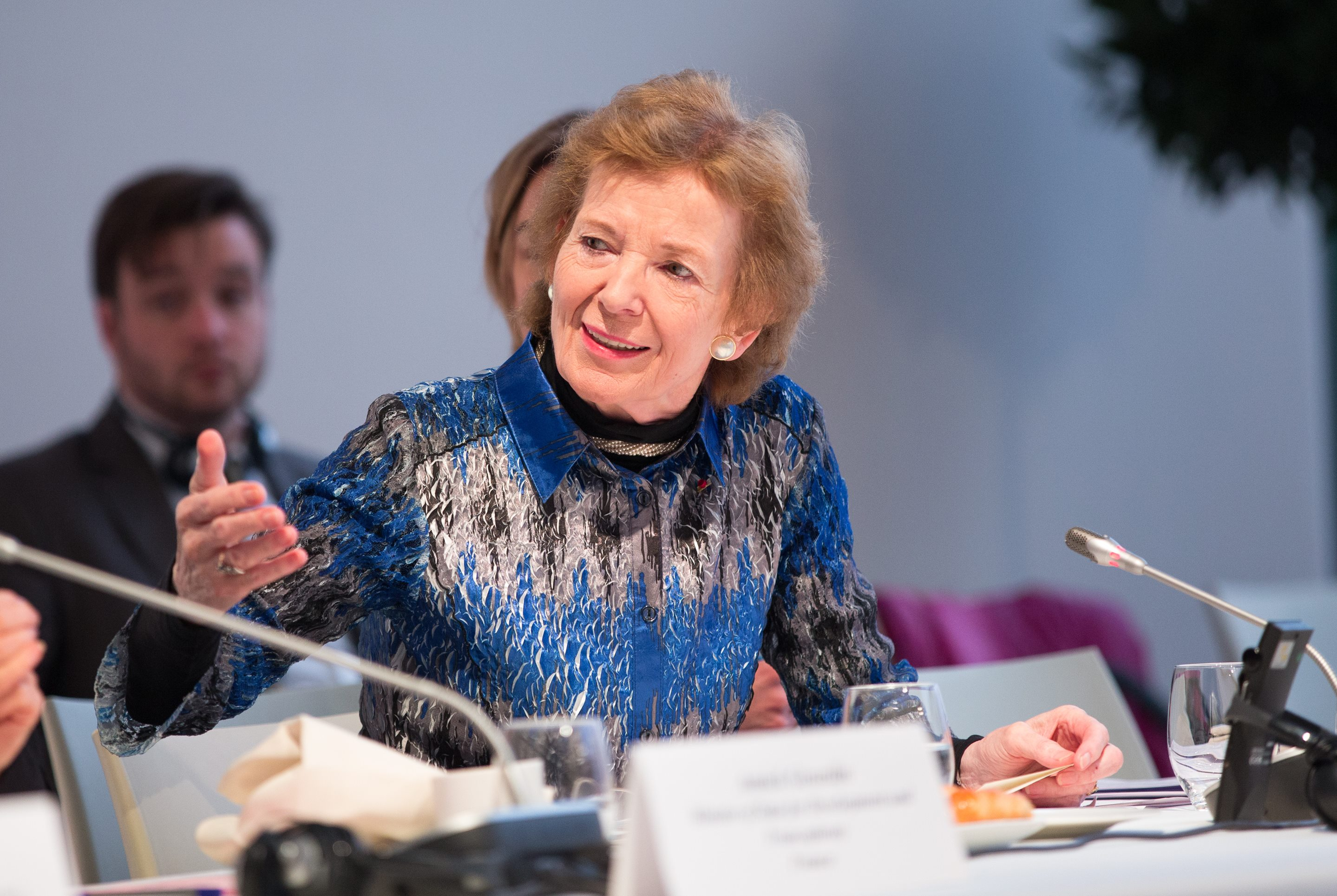 Mary Robinson at COP21, Credit Mary Robinson Foundation - Climate Justice