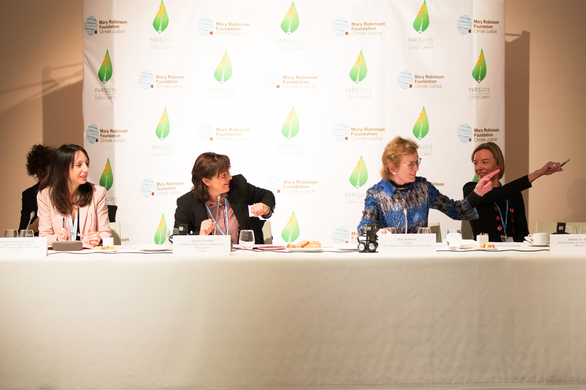 Panel_Human Rights Day breakfast meeting COP21_Credit Mary Robinson Foundation - Climate Justice