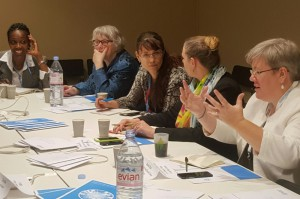 Members of the Troika+ of Women Leaders on Gender and Climate Change discuss the progress to integrate gender equality and human rights into climate action including through the Lima Work Programme on Gender and in the context of the new climate agreement. Paris, 1st December 2015.