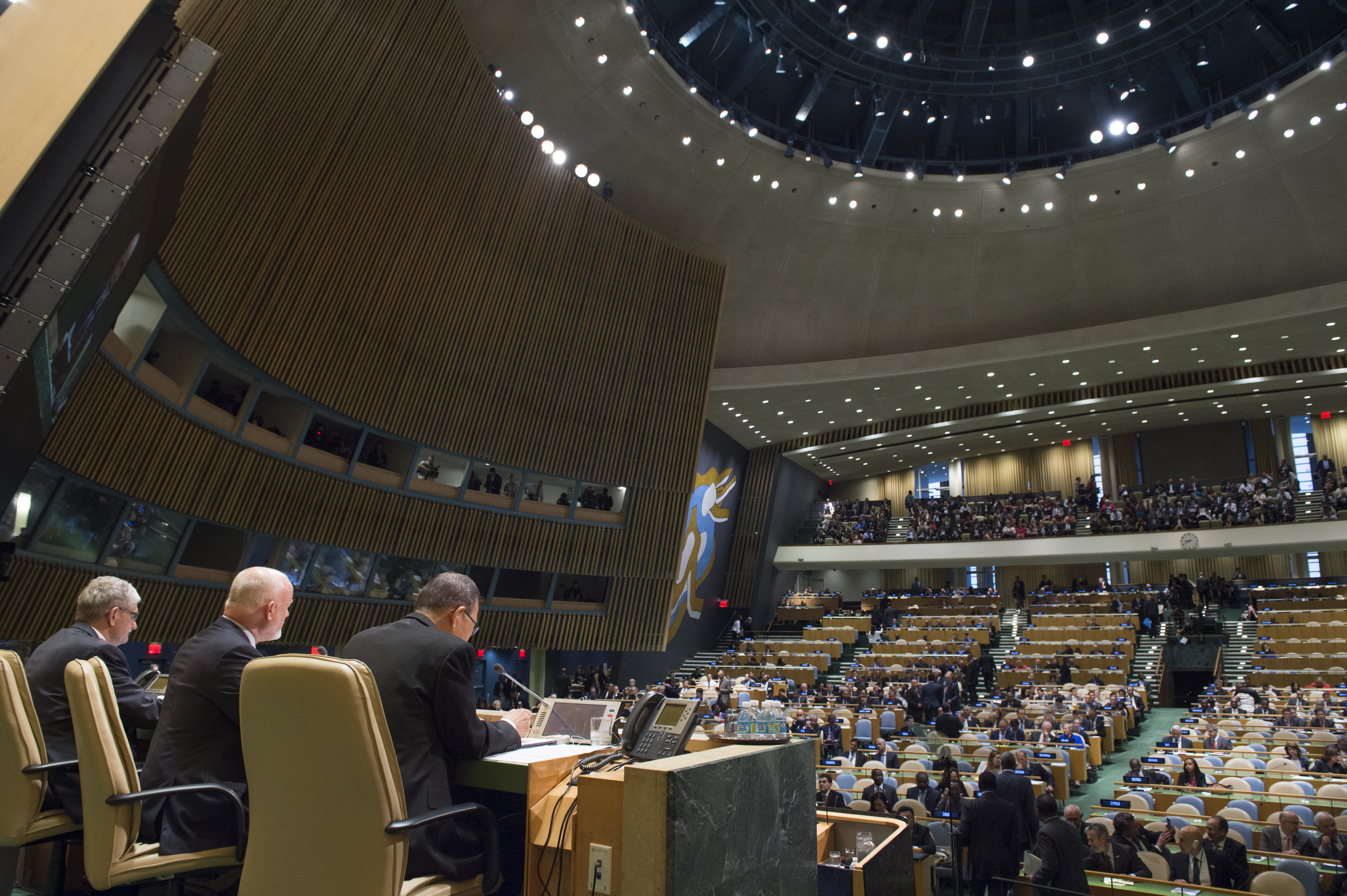 Opening of High-level plenary meeting on addressing large movements of refugees and migrants.